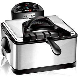 FG 124 inox amovible 2000 Watts avec thermostat réglable carrée 4 litres avec minuteur semi-professionnelle avec hublot de contrôle avec éléments amovibles compatibles au lave-vaisselle anti-odeur 1,8 kg