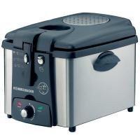 FR 2125 E1,2 kg 2,5 litres permanent avec thermostat réglable métal 2100 Watts avec minuteur avec protection contre la surchauffe Inox/Noir