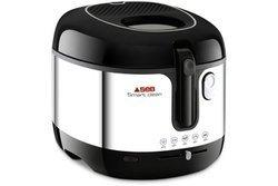 Smart Clean FR 460000 2,5 litres amovible avec thermostat réglable amovible 1,3 kg 2100 Watts avec hublot de contrôle avec cuve amovible Blanc et Noir Classique