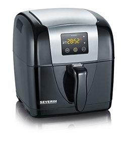 2432 avec thermostat réglable sans huile avec minuteur avec signal sonore avec écran digital LCD Noir et Inox 1300 Watts Avec voyant lumineux avec sécurité thermique