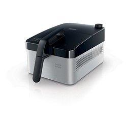 HD 9210/90 noir et silver rectangulaire avec minuteur 0,8 kg avec éléments amovibles compatibles au lave-vaisselle Friteuse Electrique 1440 Watts