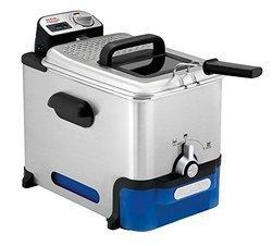 Oleoclean FR 8040 1,2 kg avec thermostat réglable rectangulaire 2300 Watts 3,5 litres avec témoin lumineux Inox