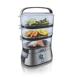 HD 9160/00 3 bols cuiseur oval avec bol à riz inclus 2000 Watts 9 litres 8,6 litres
