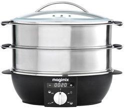 11581inox et noir 2 bols cuiseur oval avec bol à riz inclus 1900 Watts 12,2 litres avec minuteur avec arrêt automatique