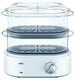 FS 5100 WH blanc 2 bols cuiseur oval avec éléments amovibles compatibles au lave-vaisselle avec fonction cuiseur à oeufs avec couvercle translucide