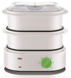 TributeCollection FS 3000blanc et vert 3 bols cuiseur oval avec minuteur avec arrêt automatique avec éléments amovibles compatibles au lave-vaisselle avec range-cordon 850 Watts 6,2 litre