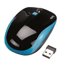 WINDOWS - Noir/BleuAvec molette sans fil Optique 3 boutons Souris USB 2.0 Roulette de Défilement Noir/bleu