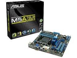 M5A78L-M/USB3 (90-MIBG70-G0EAY00Z)4 Oui Oui Oui Micro ATX avec chip graphique intégré 2 Sempron 1 x PCI Express x16 Sans port AGP Serial ATA II 1 x PCI Express x1 6 x Serial ATA II DDR3 Phenom II AMD SB710 Realtek ALC887 Athlon II Socket AM3+ AMD 760G ATI Radeon HD 3000 Realtek RTL8112