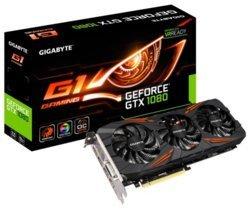 GeForce GTX 1080 Gaming G1 - 8Go (GV-N1080G1 GAMING-8GD)DVI avec ventilateur PCI Express x16 HDMi 3 x DisplayPort 8 Go GeForce GTX 1080 GDDR5X