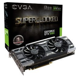 GeForce GTX 1080 SuperClocked Gaming - 8Go (08G-P4-6183-KR)DVI avec ventilateur PCI Express x16 HDMi 3 x DisplayPort 8 Go GeForce GTX 1080 GDDR5X
