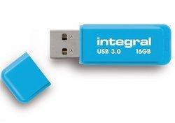 Flash Drive Neon 16 Go USB3.0 - BleuLecteur Flash 16Go USB 3.0 10 MBps 80 MBps