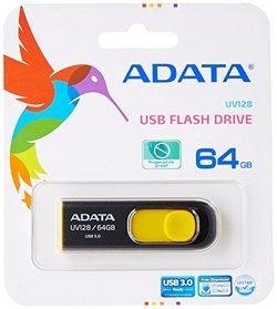 UV128 64Go USB3.0 Noir/Jaune (AUV128-64G-RBY)Lecteur Flash 64Go USB 3.0 90 MBps Noir Jaune