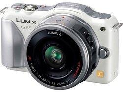 Lumix GF5 + 14-42mm - BlancUSB Secure Digital HC Live MOS 10 à 12 Mégapixels 12 Mp HDMi Hybride ISO 12800 SDXC 225 g 7,5 cm