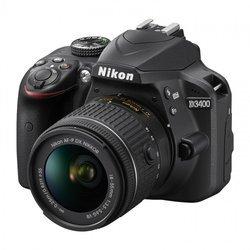 D3400 + 18-55mm - NoirUSB Reflex SDHC (Secure Digital High Capacity) SDXC Optique 395 g 7,5 cm SD 3 Pouces Integré Non Bluetooth 24,2 Megapixel(s) CMOS APS-C ISO 100 à 25 600 Pentamiroir