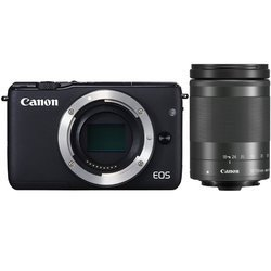 Eos M10  + 18-150mm - Noir Compact ISO 100 Secure Digital CMOS WiFi SDHC (Secure Digital High Capacity) 18 Mp SDXC 7,5 cm Auto 3 Pouces 12800 ISO NFC 301 g USB Mini-B