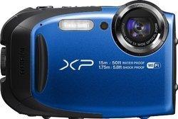 Finepix XP80 - Bleu ISO 100 USB Secure Digital WiFi SDHC (Secure Digital High Capacity) Etanche BSI-CMOS 16,4 Mégapixel(s) Secure Digital Capacité Étendue (SDXC UHS-I) Full HD (1920 x 1080) Integré 2.7 Pouces 5 x 3200 ISO Micro HDMI 162 g