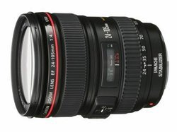 EF 24-105 mm F/4L IS USMNoir Compatible Canon De F/3.5 à F/4.4 Transtandard Canon Standard 105mm 24 mm