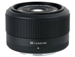 Objectif 30mm F/2.8 EX DN pour Sony Nex Focale fixe De F/2.8 à F/3.4 Compatible Sony