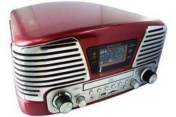 TD-79 - RougeChaîne compacte CD 2 HP 1 CD Port USB CD, MP3, CD-R, CD-RW