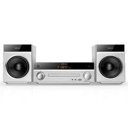 AM-301W - Blanc Port USB 2 x 20 Watts Bluetooth USB avec télécommande Radio FM Micro-chaîne Bluetooth Lecteur MP3