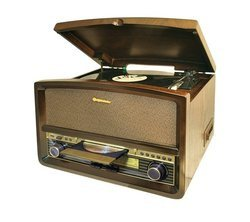 HIF 1937 - Bois Port USB Tuner AM/FM CD/CD-R/CD-RW/CD MP3 avec télécommande Ecran LED Micro-Chaîne Hifi 32 Watts