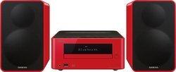 CS 265 - RougeChaîne compacte CD Port USB Bluetooth USB Tuner RDS 40 Watts Lecteur CD, MP3 avec télécommande Radio FM