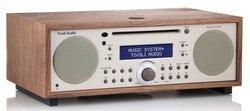 Music System+ - Walnut/BeigeChaîne compacte CD Bluetooth 40 Watts avec télécommande CD/CD-R/CD-RW
