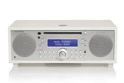 Music System+ - WhiteBluetooth 40 Watts avec télécommande Jack 3.5 mm Micro-chaîne CD Bluetooth