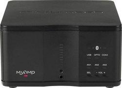 MyAmp - NoirAmpli - tuner 100 dB 1 x Entrée coaxiale numérique 1 x Entrée optique numérique 1 x Entrée USB 10 Hz à 100 KHz 3 x Entrée audio analogique 2 x 30 Watts 1 x Sortie audio analogique