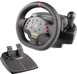 logitech momo racing force feedback wheel pas cher prix clubic. Black Bedroom Furniture Sets. Home Design Ideas