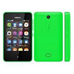 Asha 501 - VertBluetooth Monobloc smartphone MicroSD 3 pouces avec GPS avec écran tactile 128 Mo avec APN 3,2 Mpixels avec WiFi 3G+ 98 g
