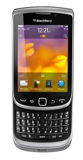 Torch 9810Bluetooth compatible MP3 smartphone 3G MicroSD avec GPS Coulissant avec écran tactile avec WiFi avec APN 5 Mpixels BlackBerry 3,2 pouces avec micro-paiement NFC 1,20 GHz 161,0 g 161 g Torch Gris Gris Zinc