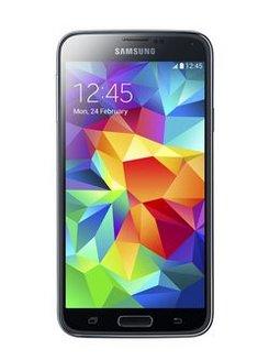 Galaxy S5 16Go - NoirBluetooth Monobloc compatible MP3 smartphone avec autofocus MicroSD avec GPS avec écran tactile 16 Go 4G avec WiFi 130 g avec stabilisateur d'image avec détection des visages Noir Android microSD High Capacity (microSDHC) avec micro-paiement NFC Bluetooth 4.x avec flash LED Certifié DLNA 130,0 g 5,1 pouces 2 Go avec APN 16 Mpixels avec lecteur d'empreinte digitale Galaxy S5