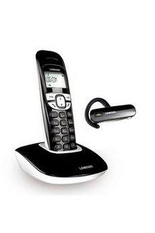T l phone fixe logicom soly 250h duo noir oreillette pas - Telephone fixe sans fil longue portee ...