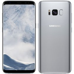 Galaxy S8 64 GO - Argent PolaireMonobloc smartphone MicroSD avec GPS avec WiFi avec stabilisateur d'image Android avec APN 12 Mpixels 64 Go 4G LTE Octa Core 2,3 GHz 4 Go Galaxy S8 5,8 pouces Bluetooth 5.0 Argent Polaire