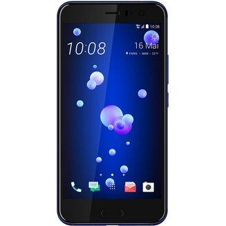 U11 BleuMonobloc compatible MP3 smartphone avec autofocus MicroSD avec GPS avec écran tactile avec WiFi avec stabilisateur d'image avec détection des visages Android avec APN 12 Mpixels avec double flash LED 64 Go 168 g 5,5 pouces 4G LTE Bluetooth 4.2 4 Go WiFi 4G Classique Tactile Qualcomm Snapdragon 835 HTC U11 2.45 GHz Bleu