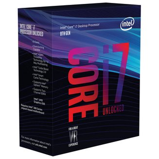 Core i7-8700KIntel Core i7 Hexa-core (6 Core) 12 Mo 95 W Technologie Hyper-Threading Intel Ventilateur Radiateur Socket 1151 Intel 3 an(s) http://www.intel.fr 3,70 GHz 4,70 GHz UHD Graphics 630