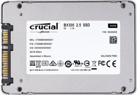 BX300 - 120 GoInterne Serial ATA Interne SSD 3 an(s) 510 MBps 530 MBps 120 Go
