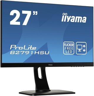 ProLite B2791HSU-B1avec haut-parleurs intégrés 300 cd/m² 170° 160° 1920 x 1080 (Full HD) 27 pouces 6,1 Kg 1 ms 16:9 Oui 12,000,000:1 Full HD 1 x HDMI Antireflet 3 an(s) Hub USB 1 x DisplayPort 1 x VGA TN 70 Hz
