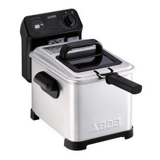 Family Pro FR 5010001,2 kg amovible avec thermostat réglable rectangulaire avec zone froide 3 litres avec minuteur semi-professionnelle 2400 Watts avec hublot de contrôle avec éléments amovibles compatibles au lave-vaisselle Avec voyant lumineux
