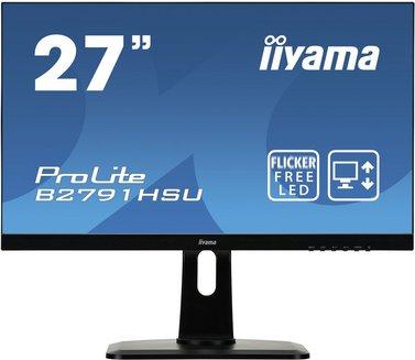 ProLite B2791HSU-B1300 cd/m² 160° 27 pouces 1 ms 16:9 12,000,000:1 170 Full HD 1920 x 1080 75 Hz 1 x HDMI 3 an(s) Hub USB 1 x DisplayPort 1 x VGA TN