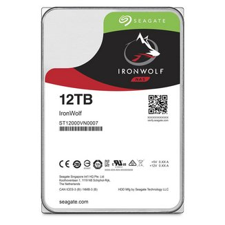 IronWolf - 12 To SATA III (ST12000VN0007)Interne 7200 tours / minute Serial ATA III PC 2 an(s) 12 To