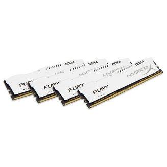HyperX Fury Blanc 4 x 8 Go DDR4 PC21300 (HX426C16FW2K4/32)Mémoire PC de bureau 4 x 8 Go 32 Go DIMM DDR4 PC21300 - 2666 Mhz 16 HyperX Fury 1,2 V 10 an(s)
