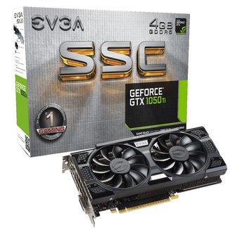 GeForce GTX 1050 Ti SCC GAMING 4G (04G-P4-6255-KR)NVIDIA avec ventilateur GDDR5 PCI Express 3.0 x16 Carte Graphique PC 4 Go 1 x HDMI 1 x DVI 1 1 x DisplayPort DVI-D Dual Link (24+1) GeForce GTX 1050 Ti 1366 MHz 1752 MHz