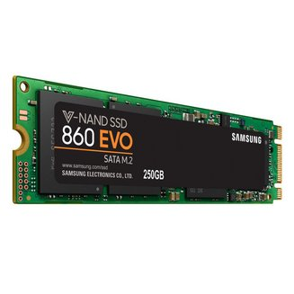 Serie 860 EVO M.2 SSD - 250 GOInterne SSD Serial ATA III PC 550 MBps 520 MBps 5 an(s) 8 g 250 Go